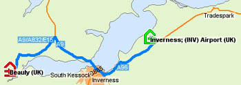 Coming from Inverness airport